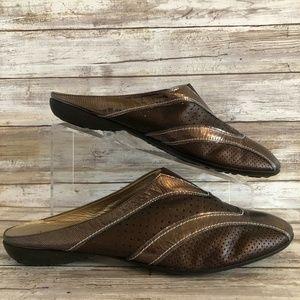 Sesto Meucci 12M Brown/Bronze Leather Mules